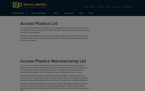 Screenshot of Services Page accessplastics.com - Our Services | Access Plastics - captured July 28, 2018