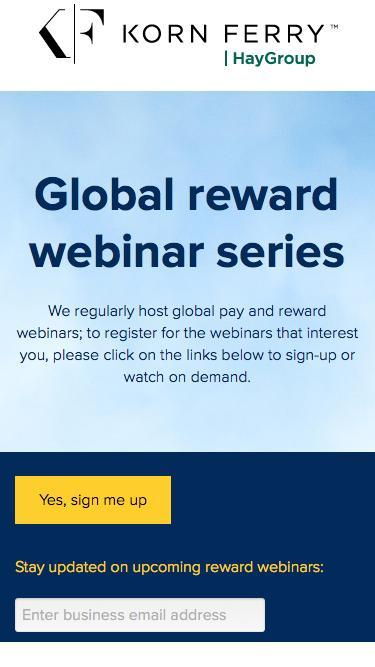 Global series: 2017 reward webinars