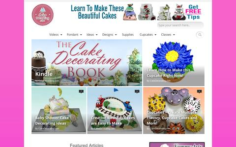 Screenshot of Home Page cakedecorating.com - Cake Decorating | Everything Cake Decorating! Learn to Decorate Cakes! - captured Sept. 25, 2014