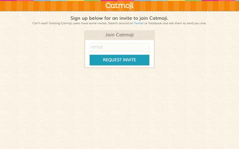 Screenshot of Signup Page catmoji.com - Catmoji — Sign Up - captured June 16, 2015