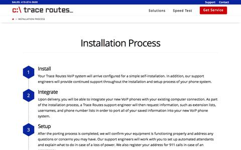 Screenshot of tracerts.com - Installation Process - Trace Routes - captured March 19, 2017