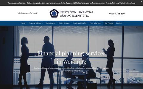 Screenshot of Team Page pentagonfm.co.uk - Financial planning services, Pentagon Financial - captured Sept. 27, 2018
