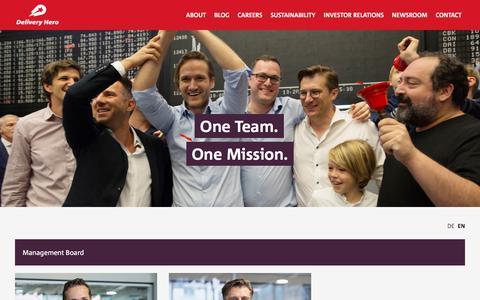 Screenshot of Team Page deliveryhero.com - Team | Delivery Hero - captured Jan. 10, 2020