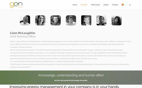 Screenshot of Team Page geneu.eu - Our team   geneu.eu - captured Sept. 25, 2018