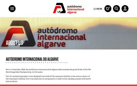 Screenshot of About Page autodromodoalgarve.com - About us - Autodromo Internacional do Algarve - captured Sept. 25, 2018