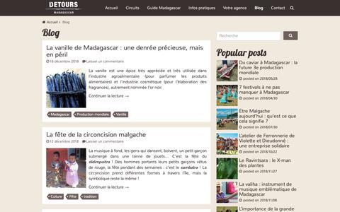 Screenshot of Blog voyagemadagascar.com - Blog Archives - Détours Madagascar - captured Dec. 19, 2018