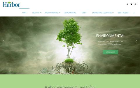 Screenshot of Home Page harborenv.com - HARBOR – Environmental | Safety | Engineering - captured Sept. 27, 2018