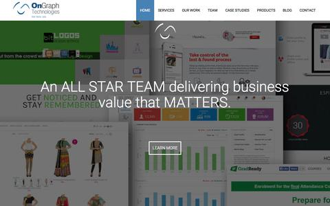 Screenshot of Home Page ongraph.com - Mobile Apps Development Company India | OnGraph Technologies - captured Nov. 11, 2015