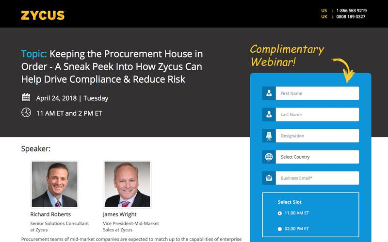 Keeping the Procurement House in Order - A Sneak Peek Into How Zycus Can Help Drive Compliance & Reduce Risk