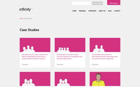 Screenshot of Case Studies Page infinitysolutions.com - Case Studies - Infinity Financial Solutions - captured Oct. 11, 2018