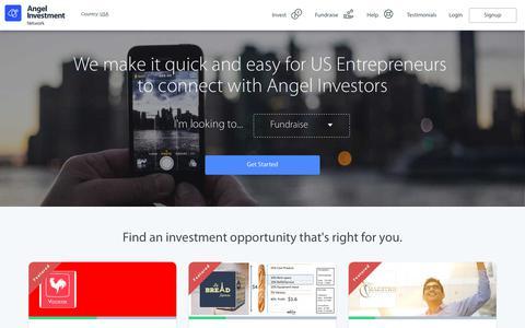 Screenshot of Home Page angelinvestmentnetwork.us - Angel Investment Network USA – Angel Investment, Local & International Business Entrepreneurs - captured July 20, 2017
