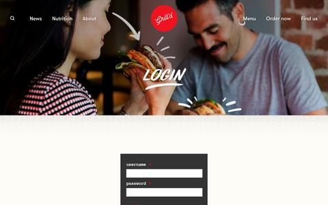 Screenshot of Login Page grilld.com.au - Login - captured May 25, 2017