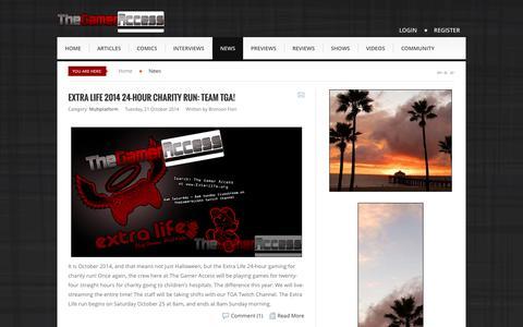 Screenshot of Press Page thegameraccess.com - News - TheGamerAccess.com - captured Oct. 30, 2014