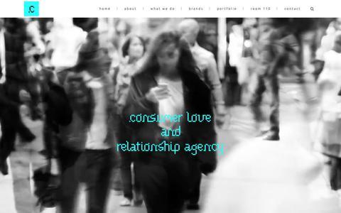 Screenshot of Home Page claradigital.it - Clara Digital | Consumer Love And Relationship Agency - captured June 23, 2015