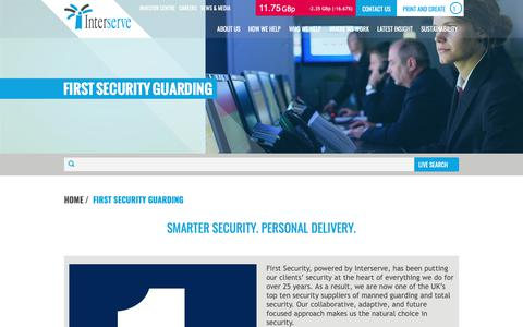 Screenshot of interserve.com - First Security - smarter security, personal delivery - captured Dec. 19, 2018