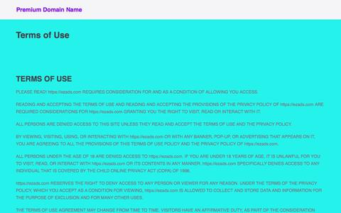 Screenshot of Terms Page maxtradein.com - Terms of Use – Premium Domain Name - captured July 13, 2018