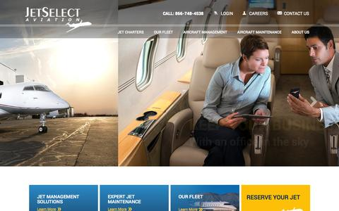 Screenshot of Login Page jetselectaviation.com - JetSelect Aviation - Private Charter Jet, Airplane Management, & Jet Maintenance - captured Nov. 2, 2014