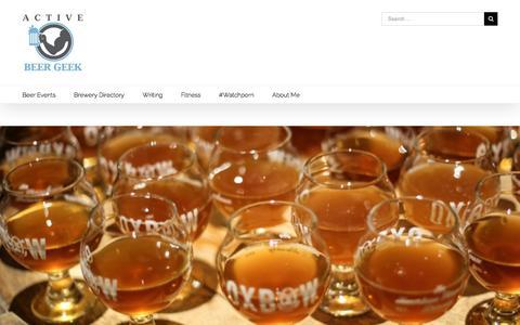 Screenshot of Home Page activebeergeek.com - Welcome To Active Beer Geek - Active Beer Geek - captured Dec. 5, 2015