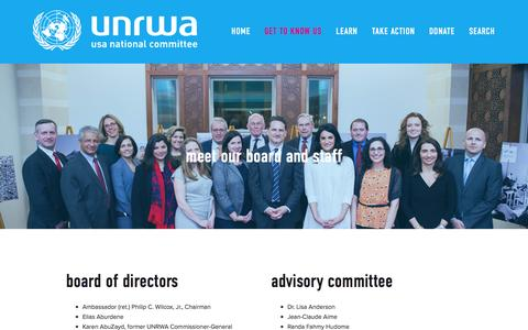 Screenshot of Team Page unrwausa.org - Our People — UNRWA USA - captured Nov. 20, 2016