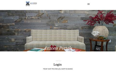 Screenshot of Login Page axxcesswealth.com - Works - captured Oct. 9, 2017