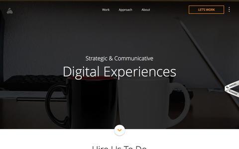 Screenshot of Services Page prismicreflections.com - Overview of UI/UX Design, Branding, Internet Marketing Services - captured Dec. 11, 2015