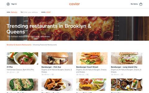 Trending restaurants in Brooklyn & Queens | Caviar