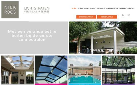 Screenshot of Home Page niekroos.nl - Lichtstraten, serres en veranda's - Niek Roos - captured Nov. 30, 2016