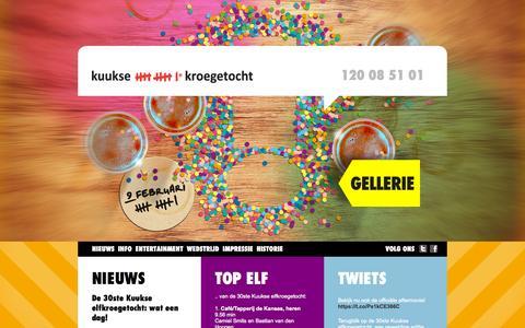 Screenshot of Home Page elfkroegetocht.nl - Kuukse elfkroegetocht - captured Oct. 12, 2015