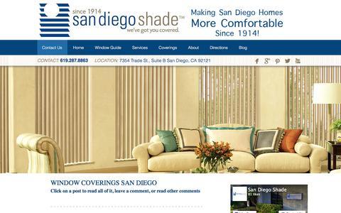 Screenshot of Blog sandiegoshade.com - Window Coverings San Diego - captured Feb. 11, 2016