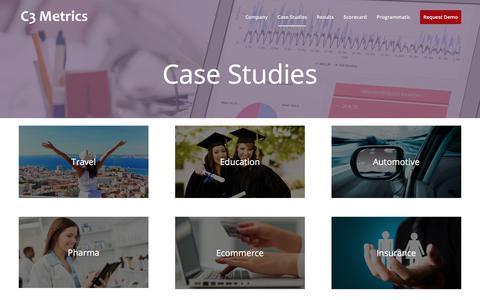 Screenshot of Case Studies Page c3metrics.com - Case Studies - C3 Metrics - captured Aug. 19, 2017