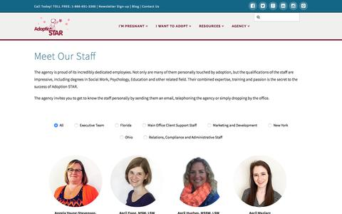 Screenshot of Team Page adoptionstar.com - Meet Our Staff | Adoption STAR - captured May 29, 2017