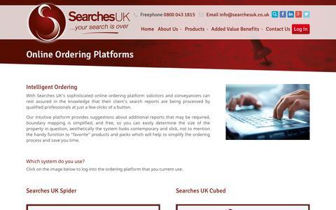 Screenshot of Login Page searchesuk.co.uk - Online Ordering Platforms - Searches UK - captured Jan. 10, 2016