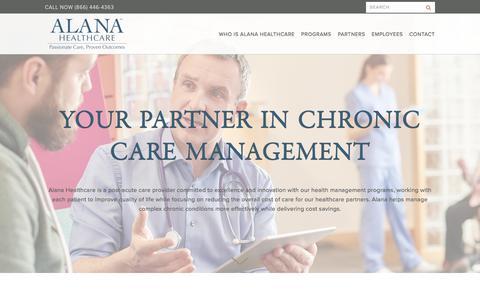 Screenshot of Home Page alanahealthcare.com - Alana HealthCare - Clinical Respiratory Services Nashville - captured Oct. 7, 2017