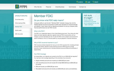 Umpqua Bank -- member FDIC