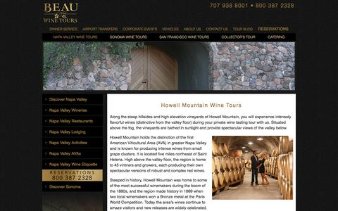 Howell Mountain Wine Tours - Private Wine Tasting - Limousine Tour