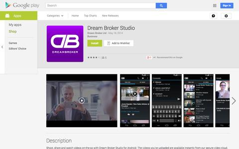 Screenshot of Android App Page google.com - Dream Broker Studio - Android Apps on Google Play - captured Oct. 25, 2014