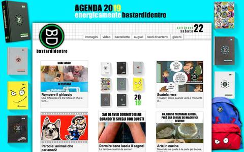 Screenshot of Home Page bastardidentro.it - Immagini divertenti, vignette, barzellette, video e testi umoristici da BastardiDentro - captured Sept. 22, 2018