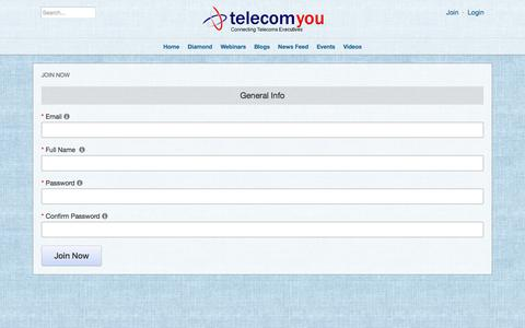 Screenshot of Signup Page telecomyou.com - Join Now - captured June 13, 2017