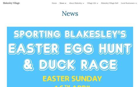 Screenshot of Press Page google.com - Blakesley Village - News - captured April 7, 2017