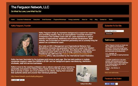 Screenshot of About Page thefergusonnetwork.com - The Ferguson Network, LLC - The Ferguson Network, LLC - captured Sept. 23, 2014