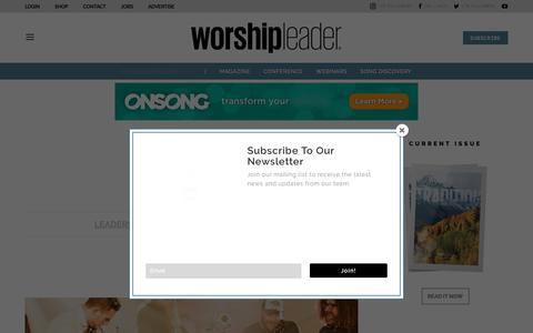 Screenshot of Team Page worshipleader.com - LEADERSHIP Archives - Worship Leader - captured Nov. 13, 2018
