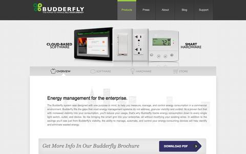 Screenshot of Products Page budderfly.com - Energy Management Programs   Building Management System - captured Oct. 5, 2014