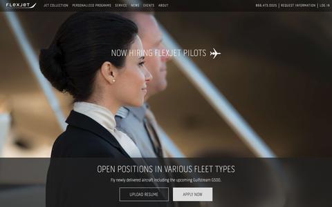 Screenshot of Jobs Page flexjet.com - Pilot Recruitment | Flexjet - captured May 15, 2018