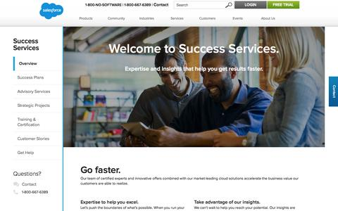 Screenshot of Services Page salesforce.com - Success Services:  Cloud Computing & CRM Services - Salesforce.com - captured Oct. 22, 2014