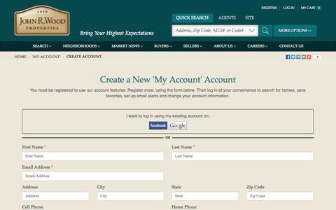 Screenshot of Signup Page johnrwood.com - Naples Real Estate | Naples Florida Homes for Sale - captured Oct. 6, 2014