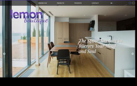 Screenshot of Home Page lemon.com.ro - Homepage - Lemon Boutique - captured Jan. 28, 2016