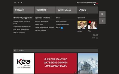 Screenshot of Jobs Page kea-partners.co.uk - Carrières | Kea & Partners - captured Jan. 16, 2018