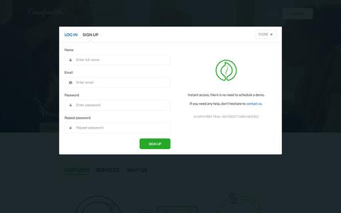 Screenshot of Signup Page crowdfundhq.com - Crowdfunding Platform White Label Site Hosting Software | CrowdfundHQ - captured Nov. 22, 2016