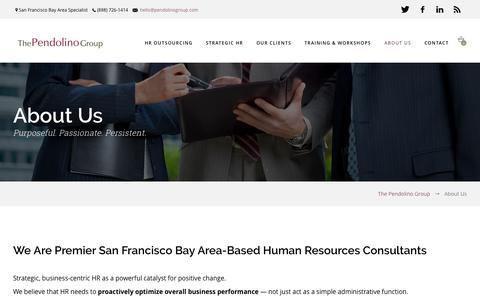 Screenshot of About Page pendolinogroup.com - About Us: Strategic HR Consultants, HR Outsourcing - captured Dec. 1, 2016