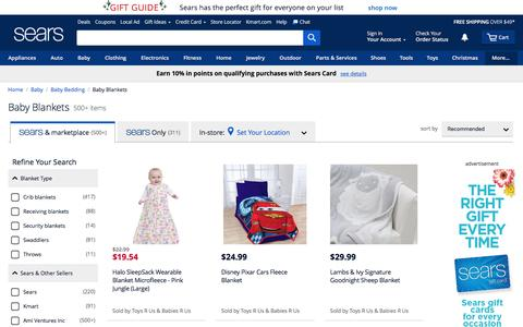 Baby Blankets - Sears